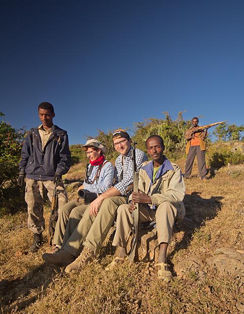 rangerzy, Góry Siemen, Etiopia, strażnicy