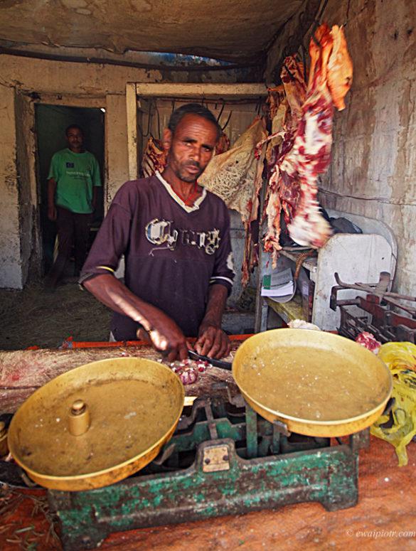 Rzeźnik w Lalibeli, Etiopia