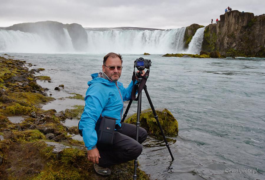 Piotr i Godafoss, Islandia