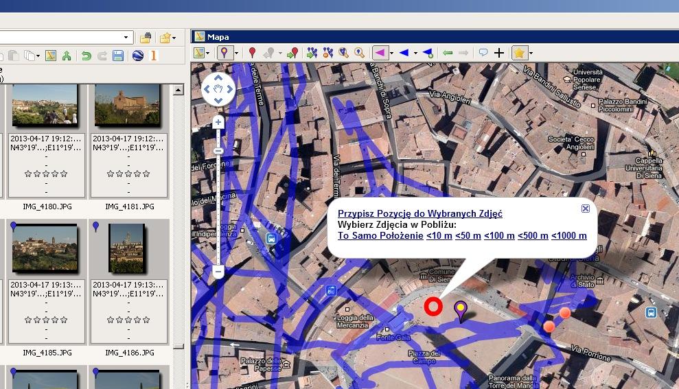 GeoSetter darmowy program do geotagowania