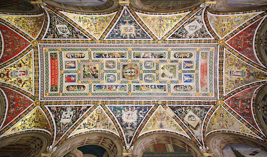 Katedra w Sienie, Toskania, sufit, Włochy