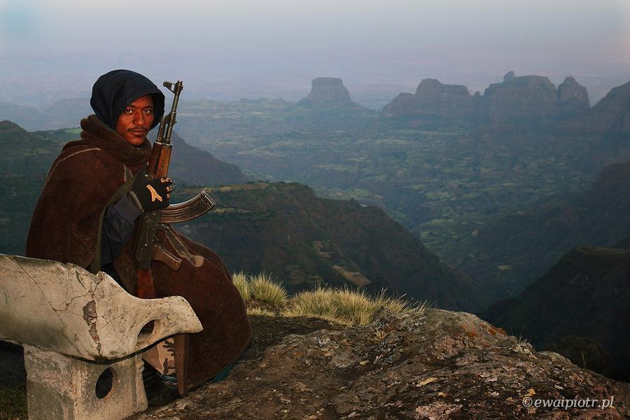 ranger, góry Siemen, fotowyprawa do Etiopii