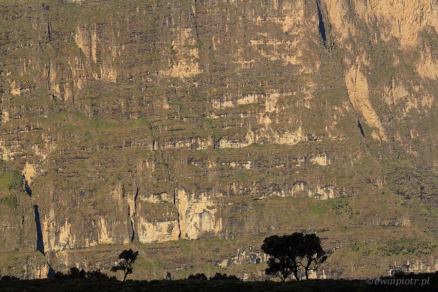 Szorstkość skał. Etiopia
