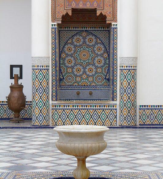W muzealnych wnętrzach Marrakeszu