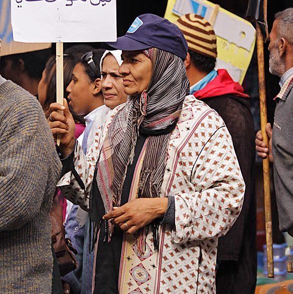 manifestacja w Marrakeszu
