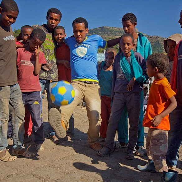 Gra w piłkę, Lalibela, Etiopia
