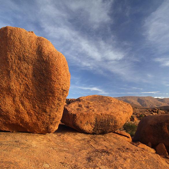 Maroko, Tafraoute, pomarańczowe skały