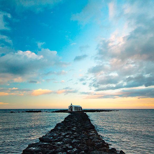 Kapliczka na morzu II, Kreta, molo, Georgiopoulis