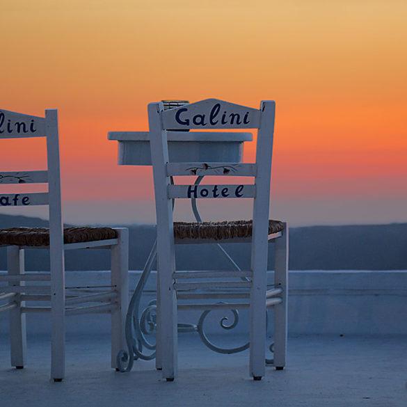 Wieczór na Santorini