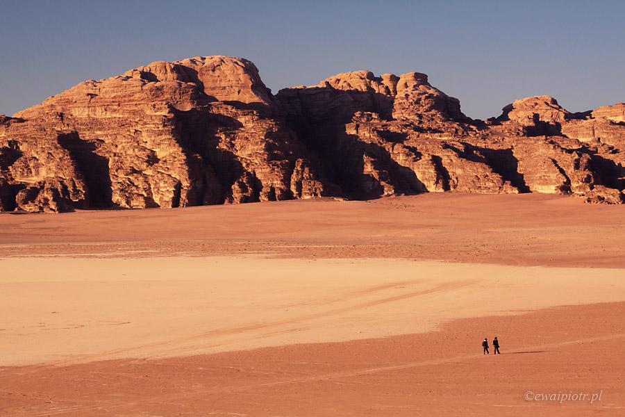 Wadi Rum o zachodzie