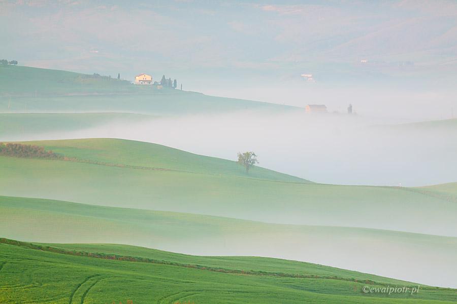 Toskania i mgły