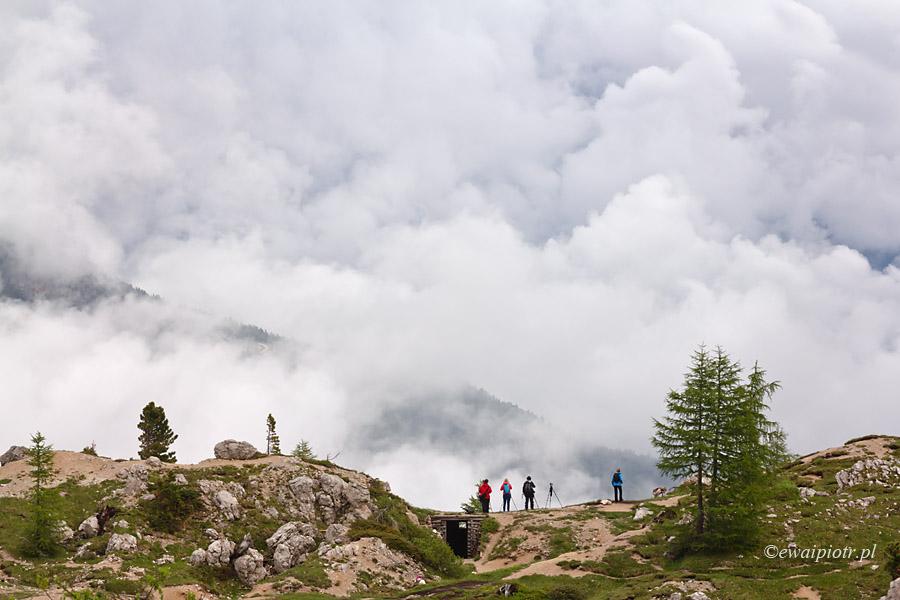 Chmury w Dolomitach