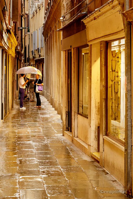Wenecja w deszczu