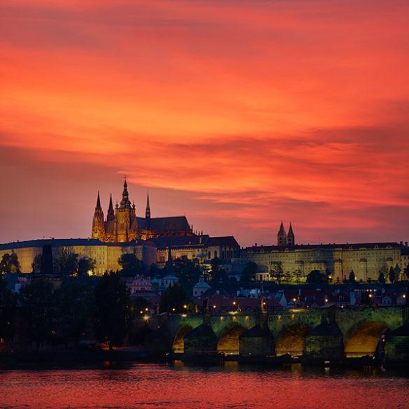 Praga, zachód słońca