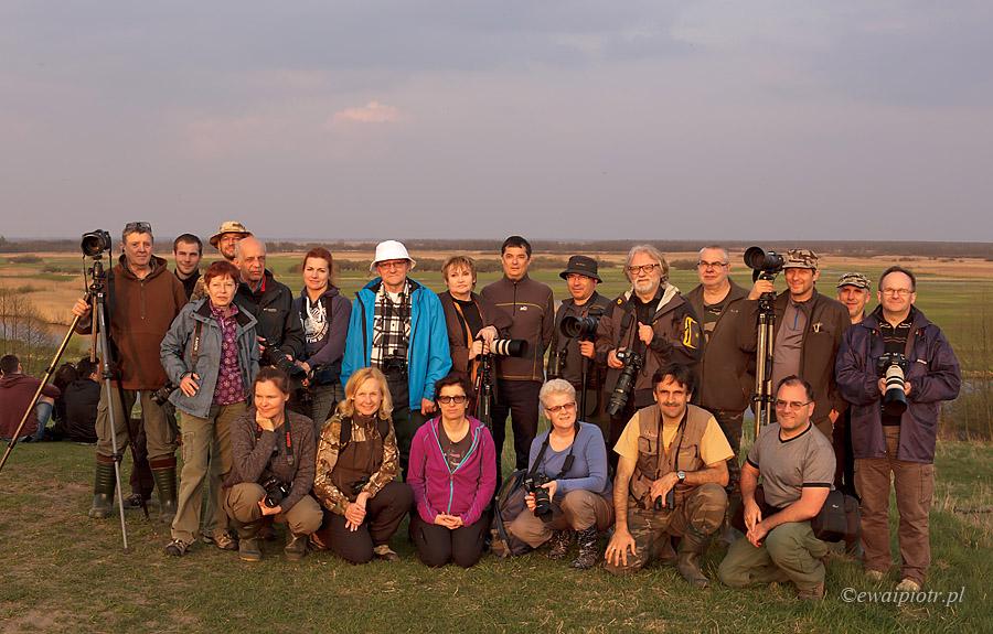 uczestnicy warsztatów Łowy nad Biebrzą 2015