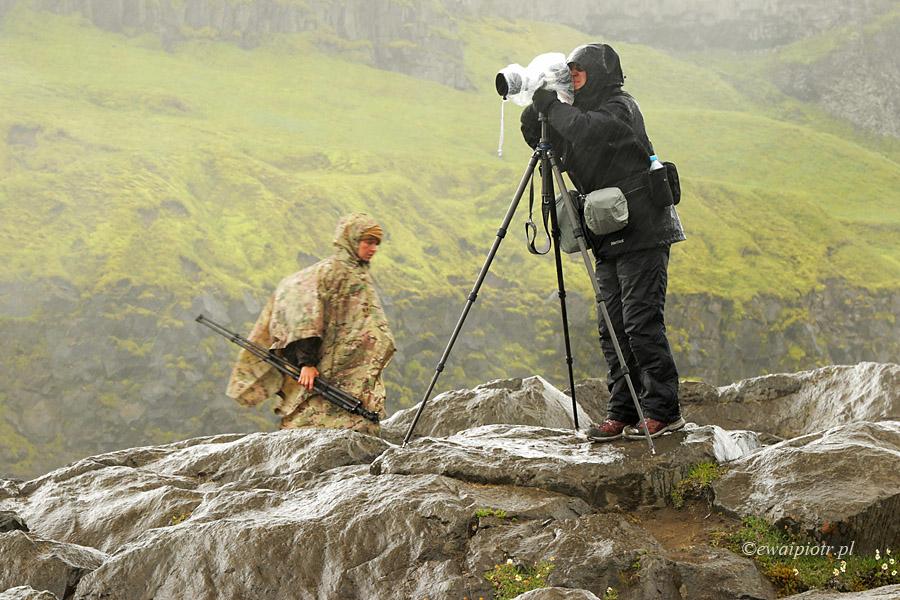 Fotografowanie w deszczu, Islandia