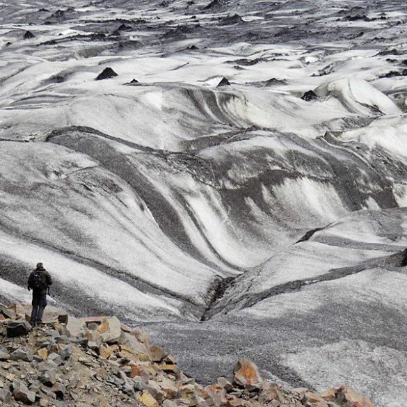 Patrząc na lodowiec. Islandia