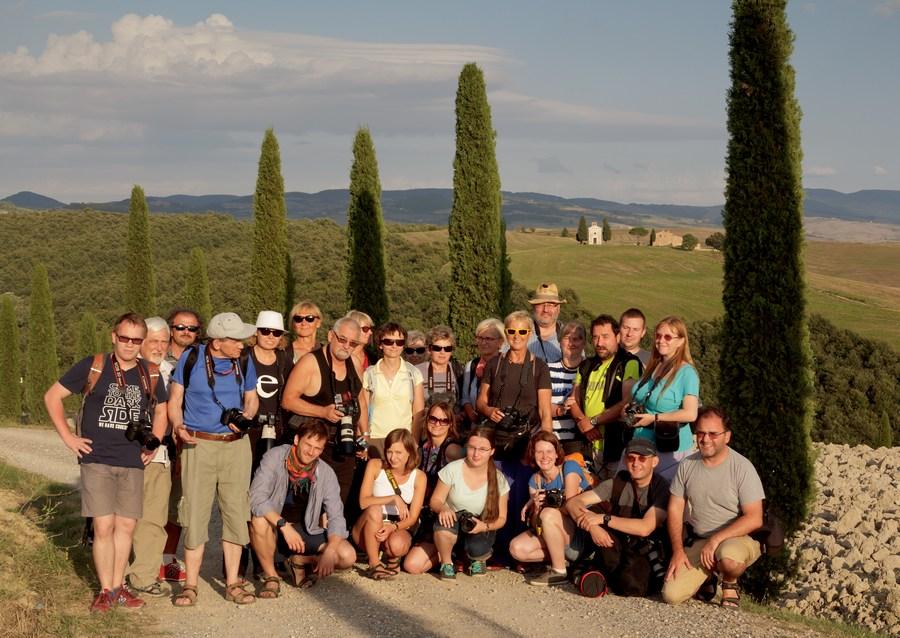 Uczestnicy fotowyprawy Toskania jesień 2015