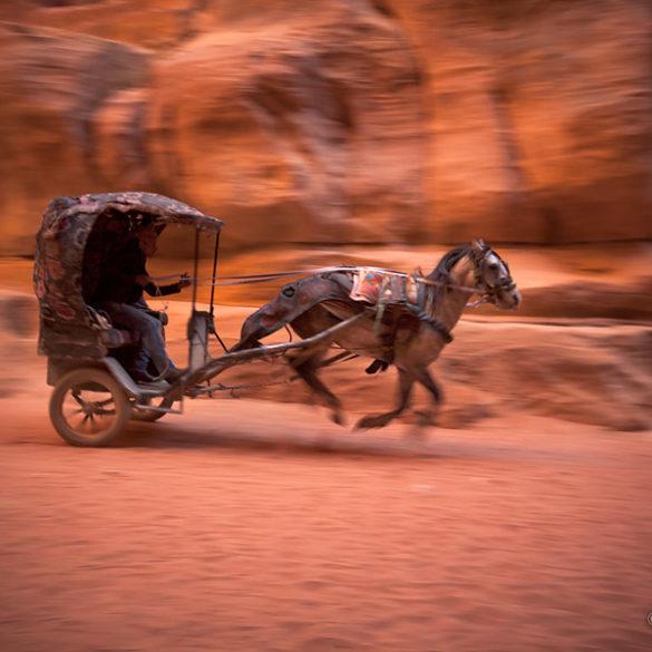 fotowyprawa Jordania, dorożka Petra