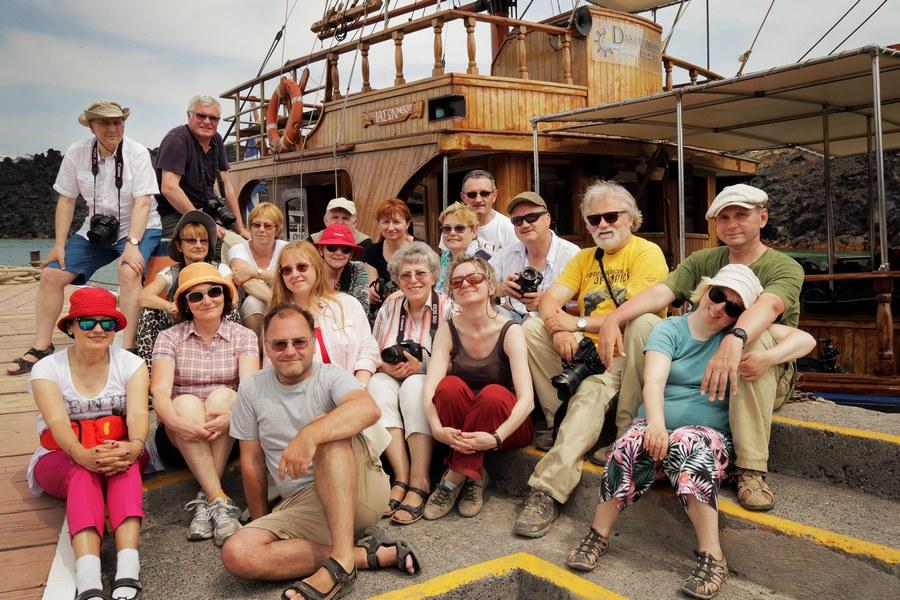 Uczestnicy fotowyprawy na Santorini 2015