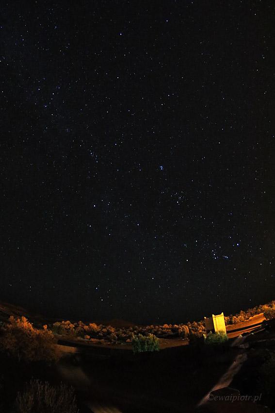 gwiazdy nad Erg Chebbi, Maroko