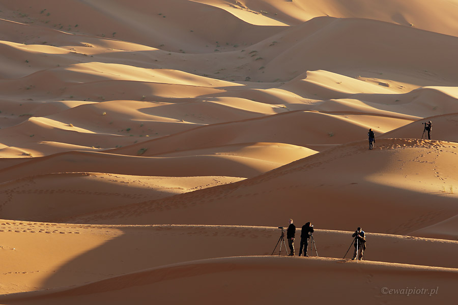 Świt na Erg Chebbi, Maroko