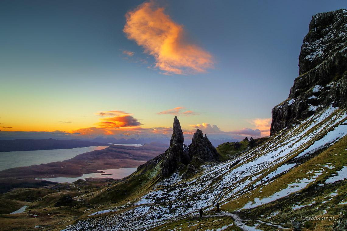 Stary człowiek i chmura. Szkocja