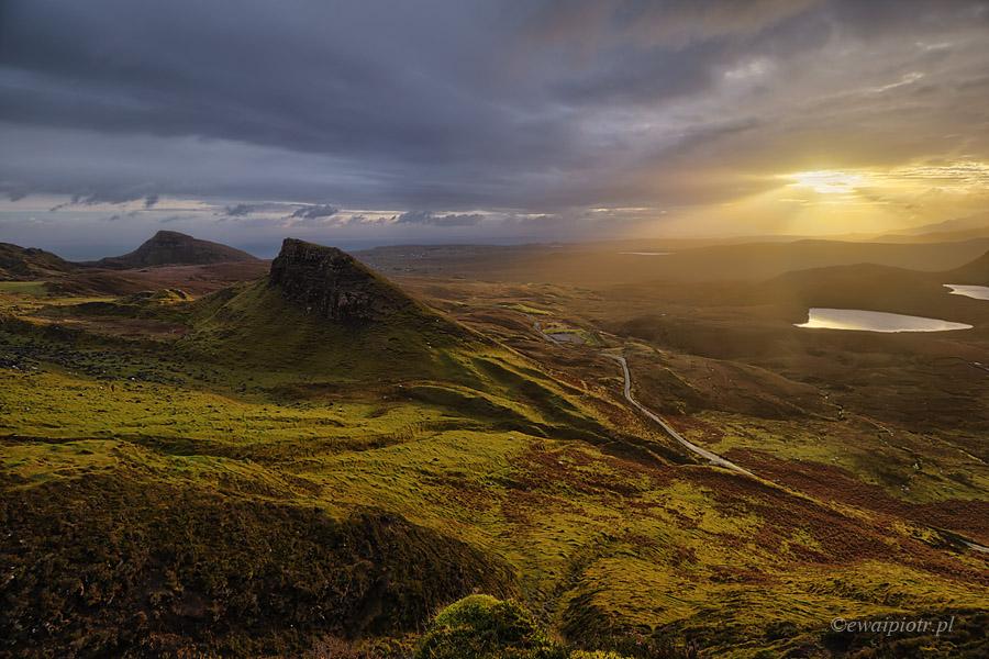 Świt w górach Quiraing, Szkocja