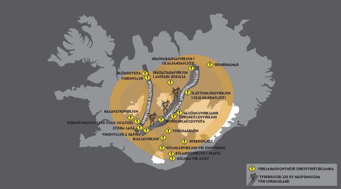 inwestycje energetyczne w centrum Islandii