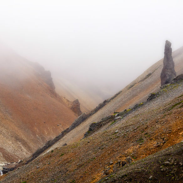 Kolorowy Kanion we mgle, Islandia