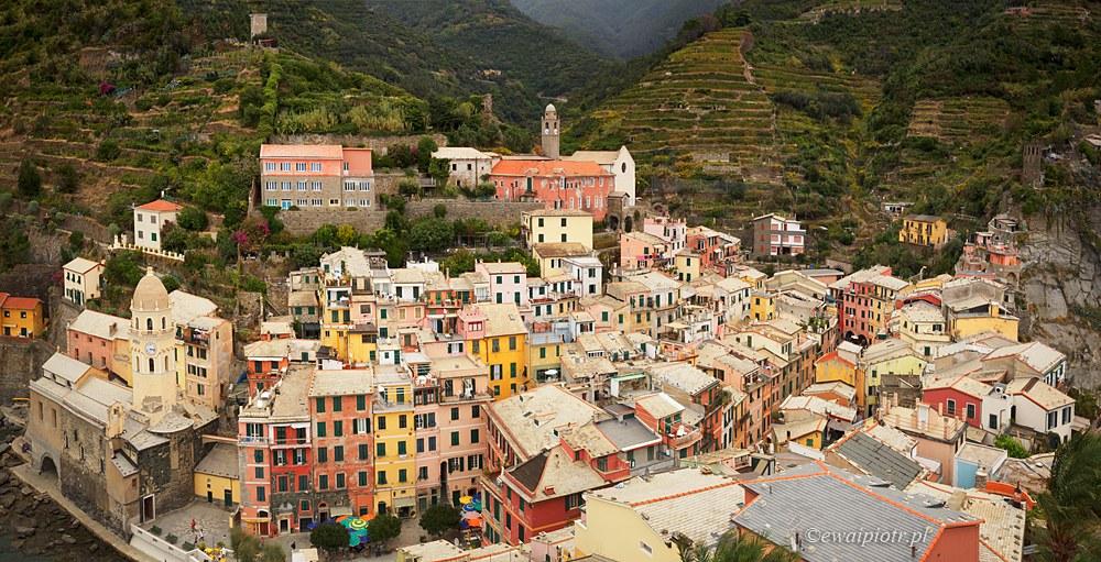 Vernazza z wieży, Cinque Terre