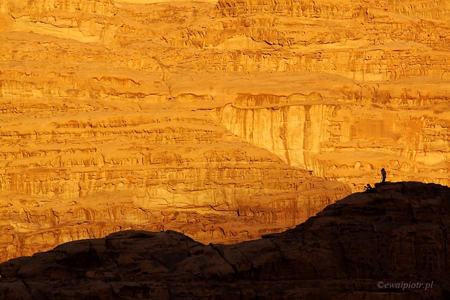Skały Wadi Rum, Jordania