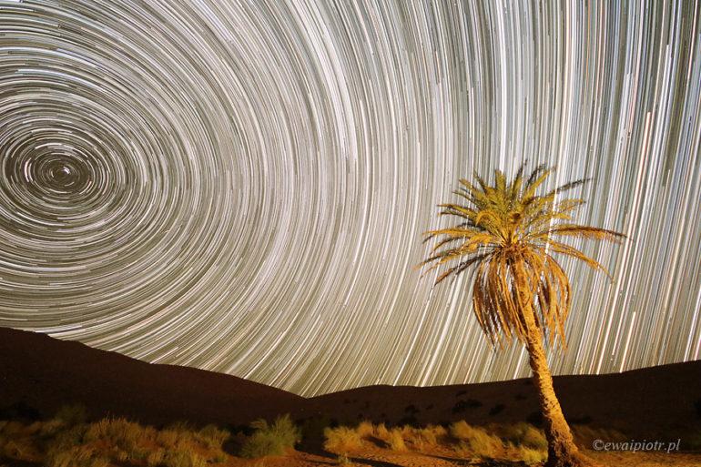 Gwiazdy nad Erg Chebbi