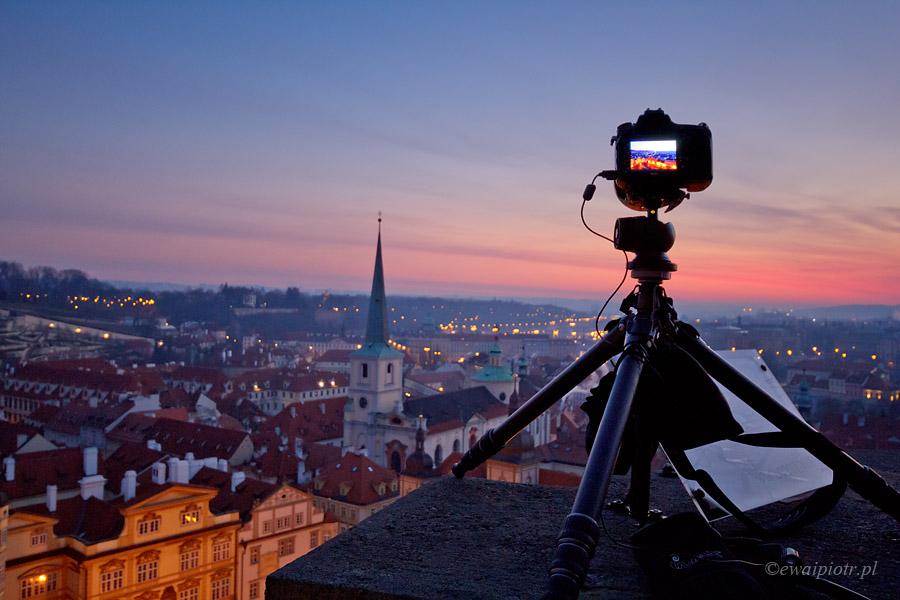 Widok na Pragę z wieży św. Mikołaja