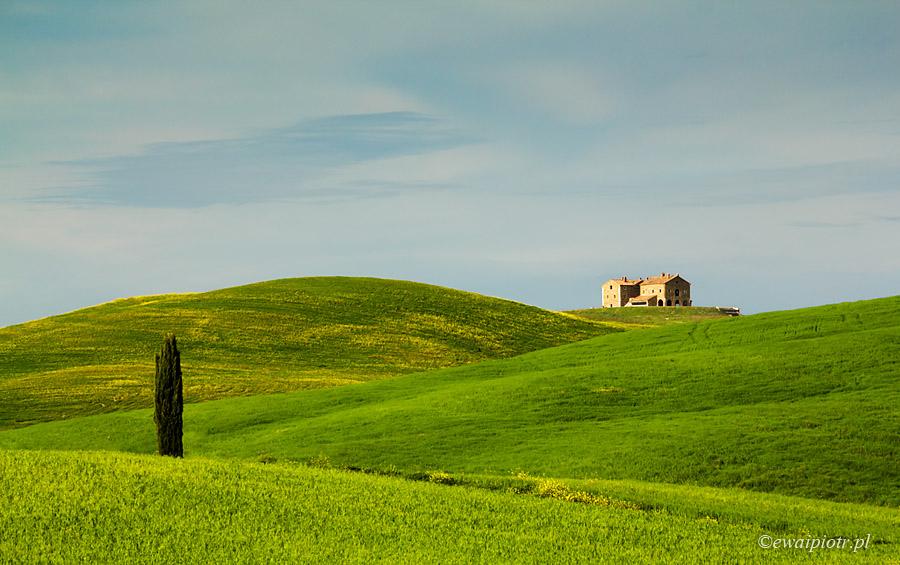 Dom, cyprys i Toskania