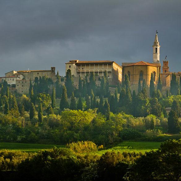 Pienza o świcie, Toskania