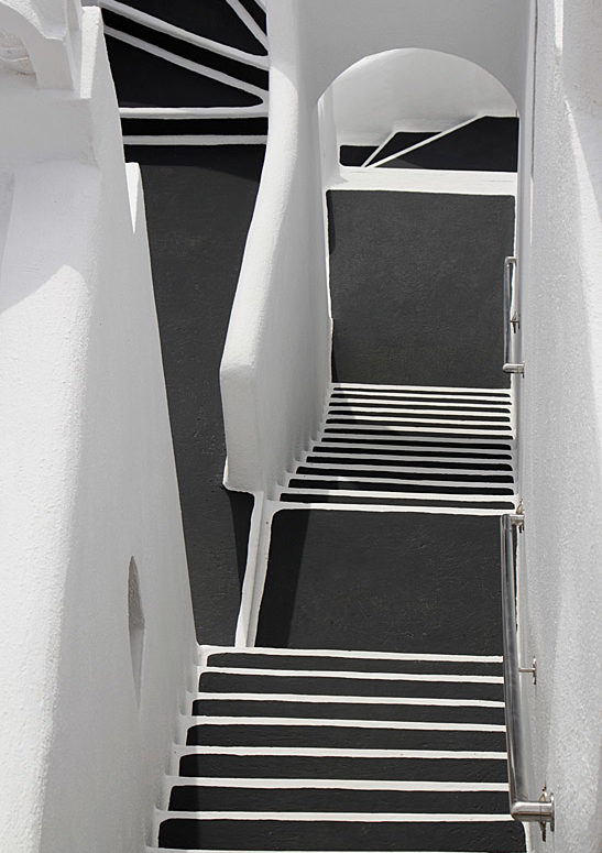 schody, Santorini