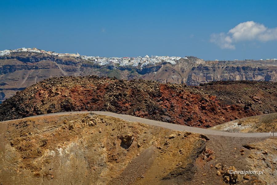 Z Nea Kameni na Santorini