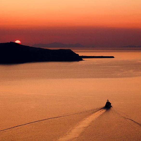 Zachód słońca z Firy, Santorini