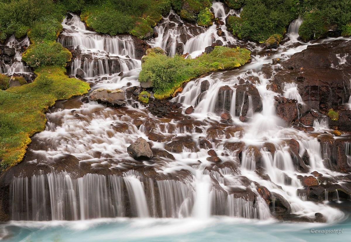 Hraunfossar, Islandia