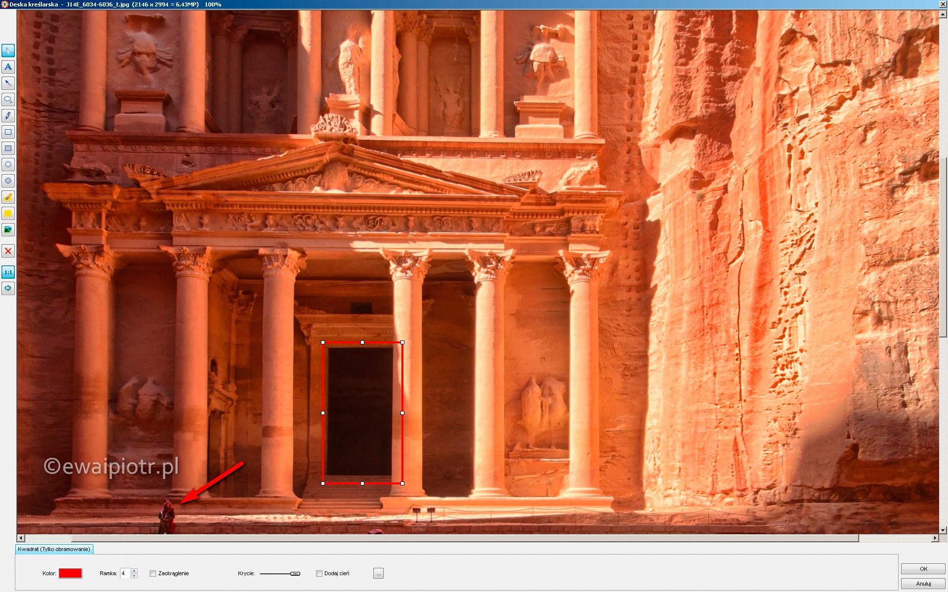 Deska kreślarska w programie FastStone Image Viewer
