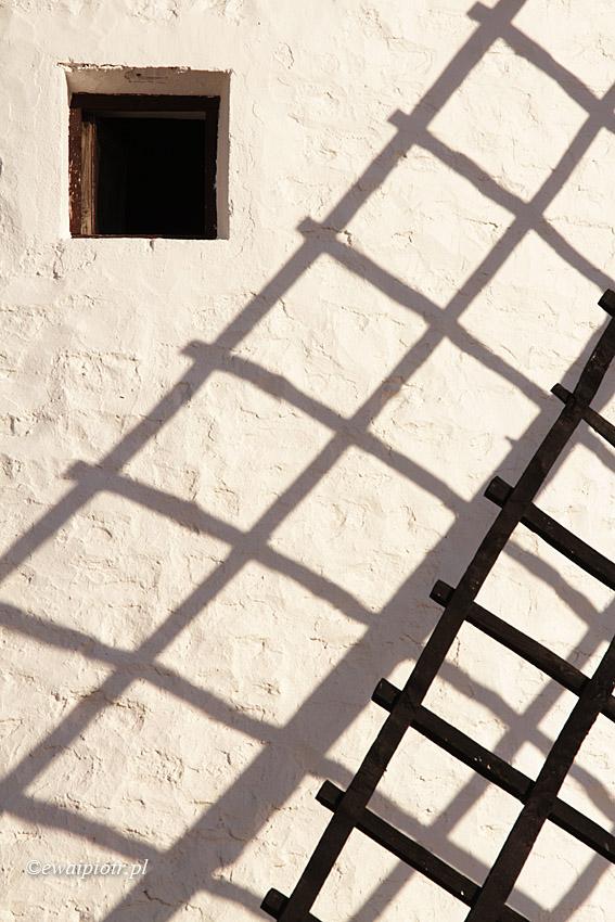 Wiatraki La Manchy, detal. Hiszpania