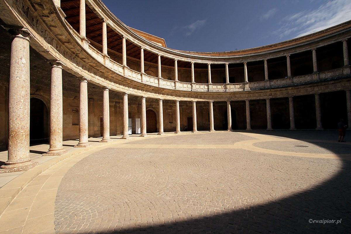 pałac Karola V, Alhambra, Andaluzja