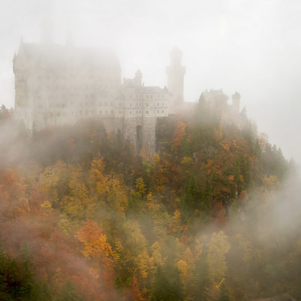 Neuschwanstein we mgle, Bawaria
