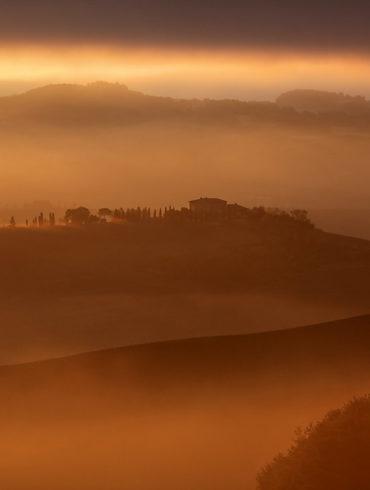 Mglisty poranek, Toskania