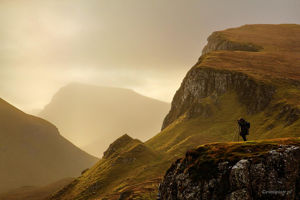 Fotograf w górach Quiraing
