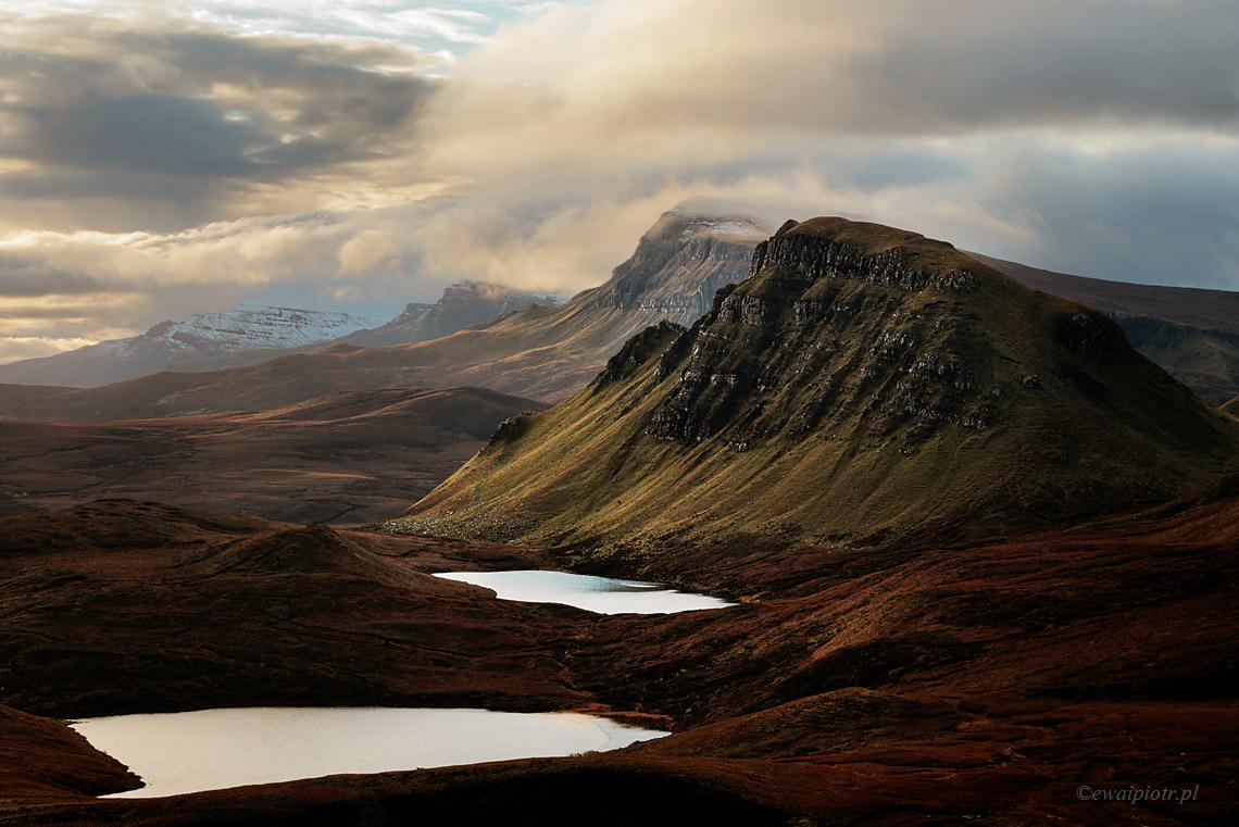 Poranek w górach Quairang, Szkocja