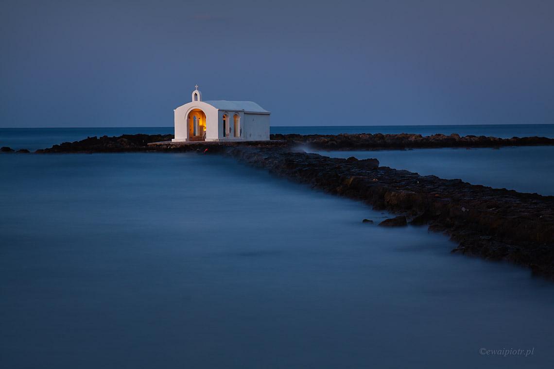 kapliczka na morzu, Kreta