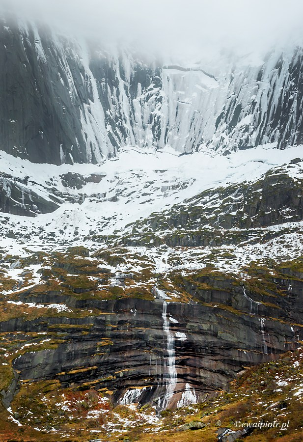 Zamarznięty wodospad, Lofoty