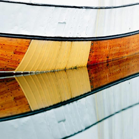 Odbicie łódki, fotowyprawa na Lofoty